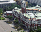 Aerial view of the Presidential Palace, Taipei